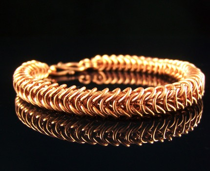 Box Chain Queen's Link Copper Bracelet