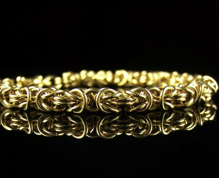 Gold Filled Byzantine Bracelet